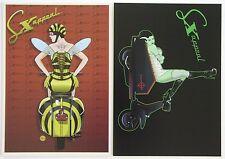 SX Appeal scooter postcard set Vespa Queen Bee/Bride of Lambretta mod Halloween