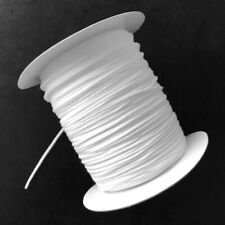 Super Soft Round Elastic String Cord White 3mm - Ideal for face masks, hats, etc