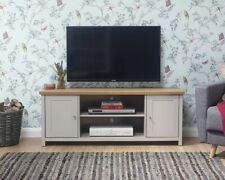 New NQP Lancaster Large TV Unit GREY LOCAL DELIVERY