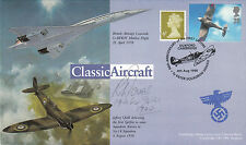 Classic Aircraft Cover Showing & Spitfire Signed  Richard Jones  64 Sqn Battle