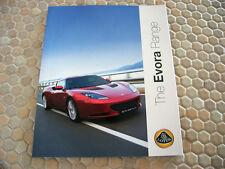 LOTUS CARS OFFICIAL EVORA PRESTIGE SALES BROCHURE USA EDITION 2011