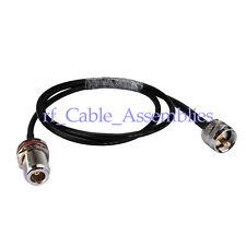 N female bulkhead O-ring to UHF PL259 male plug RF paitail cable RG58 1M wifi