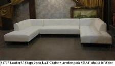 3PC Gorgeous Modern elegant design  white leather U shape set #1707