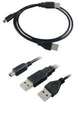 Mini 5 pin USB B Male to 2 x USB A Male Y cable USB 2.0