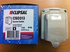 Clipsal Outdoor Waterproof Single Socket IP56