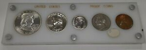 1950 United States Mint 5 Coin Proof Set in Acrylic Holder 90% Silver (C)