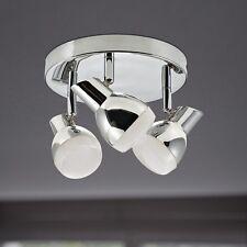 WOFI Plafonnier LED NANTES 3 feuilles Chrome Réglable 15 Watt 1200 LUMEN Spot