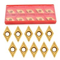 10Pcs DCMT11T304-HM YBC251 Carbide Inserts Blade for Lathe Tool Turning Holder