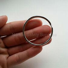 5 x Large Jailers Fob / Keyring / Split Ring 50mm