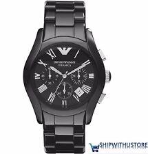 Emporio Armani AR1400 Men's / Gents Black Ceramic Designer Chronograph Watch