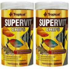 2 X Tropical Supervit Chips 1000 ML Mangime Per Pesci Siluro Schmerlen (12,25 €/