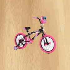 """Kent 18"""" Sparkles Girls Bike Black/Pink Riding Cycle Pedal Training Wheel"""