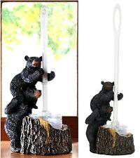 BLACK BEAR FAMILY SOUTHWESTERN BATHROOM TOILET BRUSH HOLDER & BRUSH SET * NIB