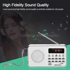Portable Mini Pocket FM Radio Digital LCD Speaker MP3 Player USB AUX TF SD Card