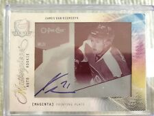 2009-2010 UD THE CUP James Van Riemsdyk AUTO PRINTING PRINT PLATE ROOKIE RC 1/1