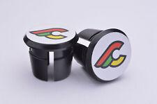 Cinelli Plugs Caps Tapones guidon bouchon lenker vintage style black white