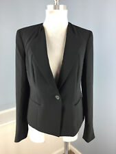 Talbots S 6 Black Blazer Suit jacket Career Cocktail Excellent