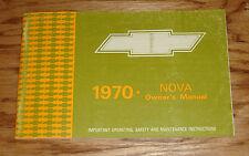 Original 1970 Chevrolet Nova Owners Operators Manual 70 Chevy