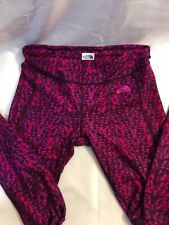 The North Face Pink/Purple,Camo Print Stretch Athletic Yoga Pants Women's P/S