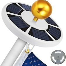 Solar Powered Flag Pole Light, Super Bright Long Endurance Flagpole Waterproof