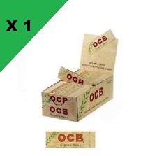 OCB Courte Chanvre bio boite/box de 50 carnets de feuille à rouler petite taille