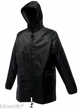 007a Regatta Mens Black Stormbreaker Waterproof Lightweight Hooded Jacket Medium