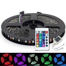 Black PCB RGB 5050 Led Strip Light Waterproof 5M 300Led +24Key IR Remote Control