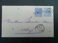 Nederland 35 2x op vouwbrief van Delft naar Den haag 1893 puntstempel 22