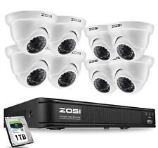 Zosi H.265+ Dvr system 2Mp Cctv Camera Home Security Ir Night Vision 0-1Tb Hdd