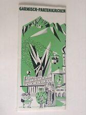 Rare ancien dépliant Brochure Garmisch Partenkirchen