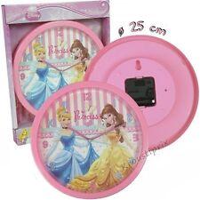 Horloge Pendule Murale Enfants Disney PRINCESS - Livraison Gratuite !