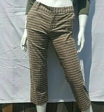 TOMMY BAHAMA Women's Honeycomb Cropped Capri Pants Size 2 Nice Condition