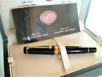 AURORA OPTIMA Aureloid fountain pen Black and gold trim Limited Edition nib M