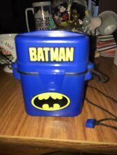 VINTAGE BATMAN BLUE PLASTIC CASE WITH STRING LANYARD KEY HOLDER ?