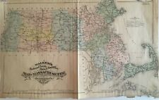 Walker's Railroad, County, Town & Post Office Map of Massachusetts 1879
