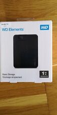 """Western Digital Elements 1 To, 2,5"""" Disque Dur Externe - DANS SON ÉTUI NEUF !!"""