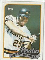 FREE SHIPPING-MINT-1989 (PIRATES) Topps  #440 Bobby Bonilla PLUS BONUS CARDS