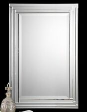 "Alanna Wall Vanity Bathroom Mirror Stepped Beveled Edges  34""H ~ 08027 Uttermost"