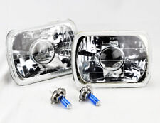 "7x6"" Halogen H4 Clear Glass Projector Headlight Conversion Pair RH LH Plym"
