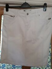 Ladies white Denim Skirt Size 16