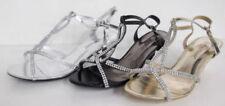 Zapatos de tacón de mujer de color principal plata de piel sintética
