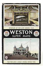 Pavilion - Weston Super Mare Photo Postcard 1911