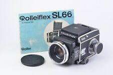 EXC++ ROLLEIFLEX SL66 w/80mm F2.8, BACK, INSERT, WLF, MANUAL, VERY NICE, TESTED
