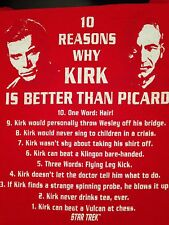 VINTAGE STAR TREK - 10 REASONS WHY KIRK IS BETTER THAN PICARD T SHIRT SMALL