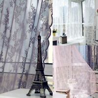 Lace Window Curtain Divider Bedroom Drape Panel Voile Tulle Sheer Scarf Valance