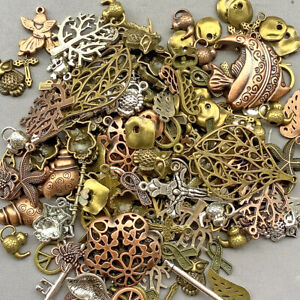 Destash Plated Charms Pendants Mixed Sizes and Colors Over 7oz Pkg Free Shipping