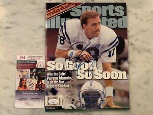 Peyton Manning No Label Signed Autographed Sports Illustrated Magazine JSA COA