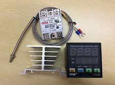 Digital F/C PID Temperature Controller TA4-SNR + J-Type Senor +25A SSR+Heat Sink