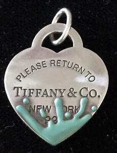 Tiffany Sterling Silver Blue Splash Charm