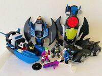 Imaginext DC Comics Superhero Friend Batman Toys Lot Batmobiles Batboat Figures